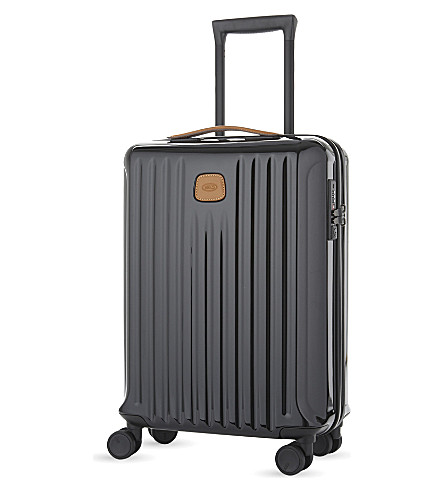 BRICS Capri four-wheel cabin case 55cm (Black+/+tabacco