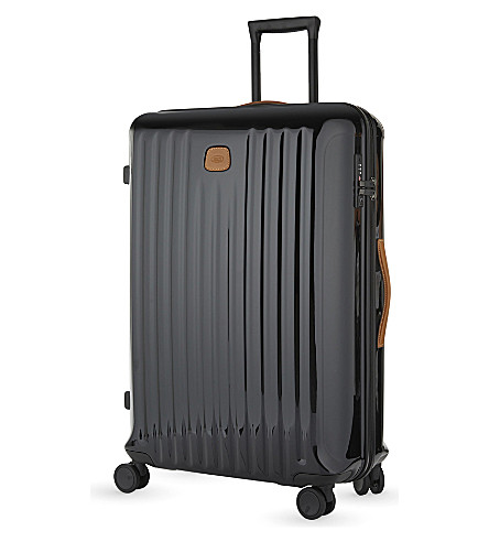 BRICS Capri four-wheel trolley suitcase 78cm (Black+/+tabacco