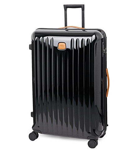 BRICS Capri four-wheel trolley suitcase 71cm (Black+/+tabacco
