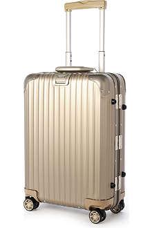 RIMOWA Topas Titanium four-wheel cabin suitcase 55cm