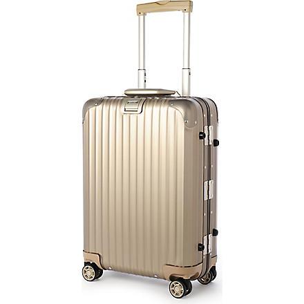 RIMOWA Topas Titanium four-wheel cabin suitcase 55cm (Titanium