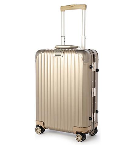 RIMOWA Topas four-wheel titanium cabin suitcase 55cm (Titanium