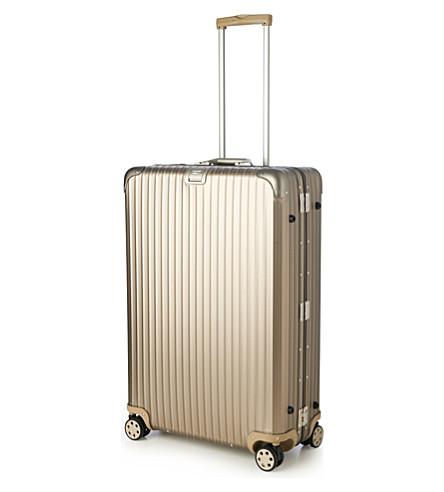 RIMOWA Topas four-wheel titanium suitcase 81cm (Titanium