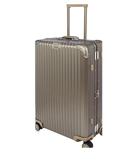 RIMOWA Topas Titanium four-wheel suitcase 74.5cm (Titanium
