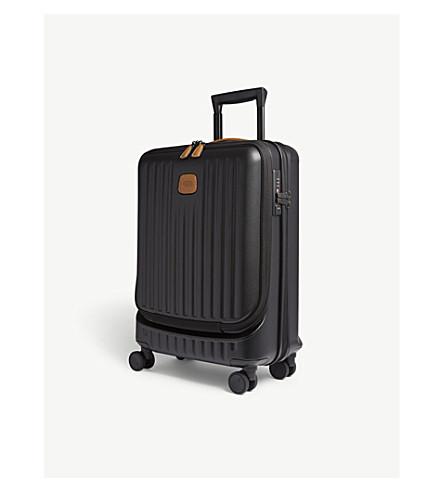 BRICS Capri four wheel carry-on suitcase 55cm (Black+matt
