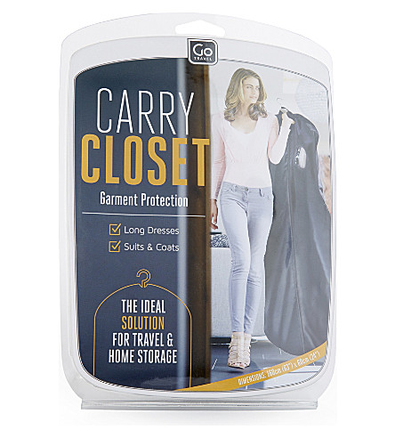 GO TRAVEL Carry closet garment protector (Black