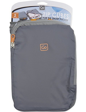 GO TRAVEL Zip cubes twin-pack