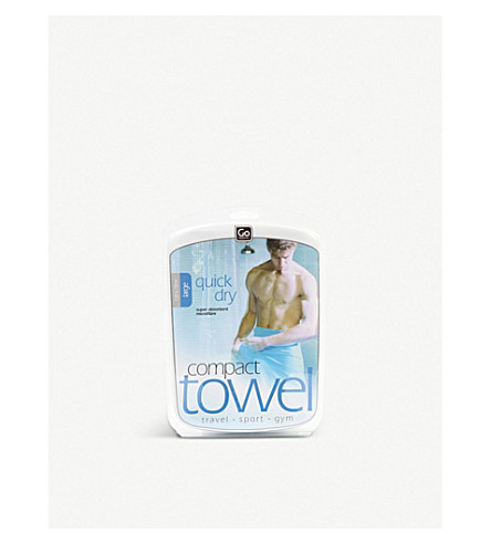 GO TRAVEL Large Compact Towel (Blue