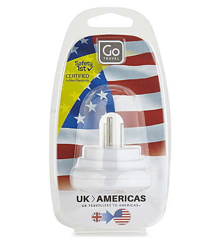 GO TRAVEL UK to USA adaptor (White