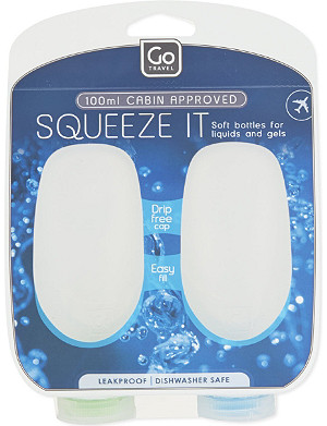 GO TRAVEL Squeezy bottles 100ml twin-pack