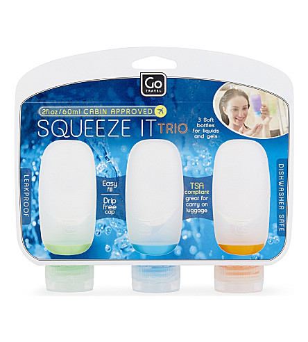 GO TRAVEL Squeeze It trio 3 x 60ml (Clear