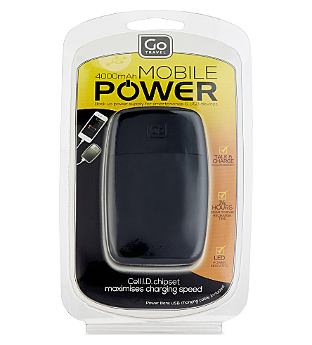 GO TRAVEL Power Bank 4000 (Black