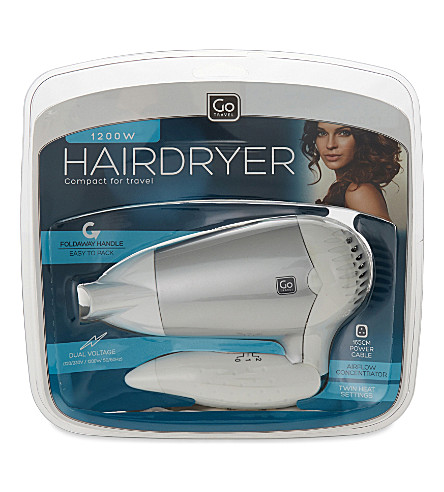 GO TRAVEL Travel hairdryer (White
