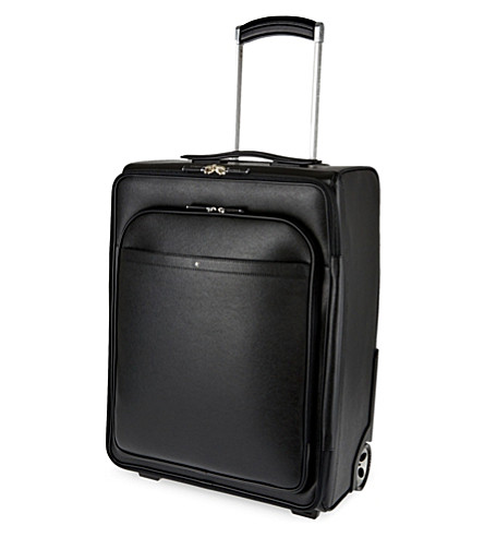 MONTBLANC Sartorial two-wheel leather cabin suitcase 55cm (Black