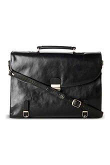 QUINDICI Two–gusset soft briefcase