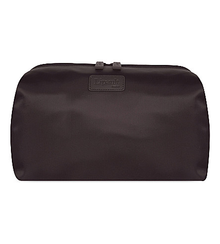 LIPAULT Plume nylon toiletry bag (Chocolate