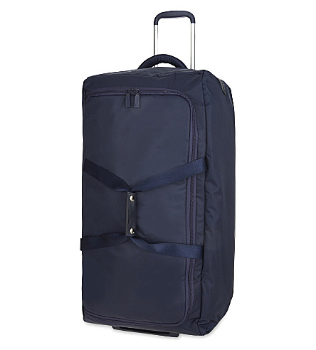 LIPAULT 0% Pliable foldable two-wheel duffle 78cm (Navy