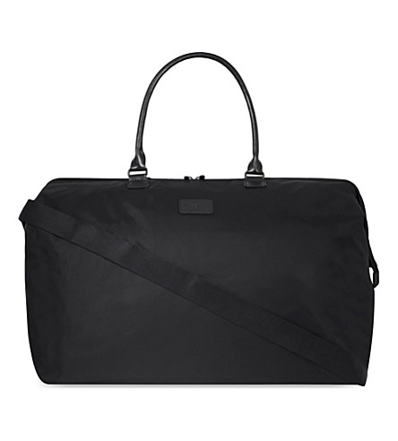 LIPAULT Nylon large nylon weekend bag (Black