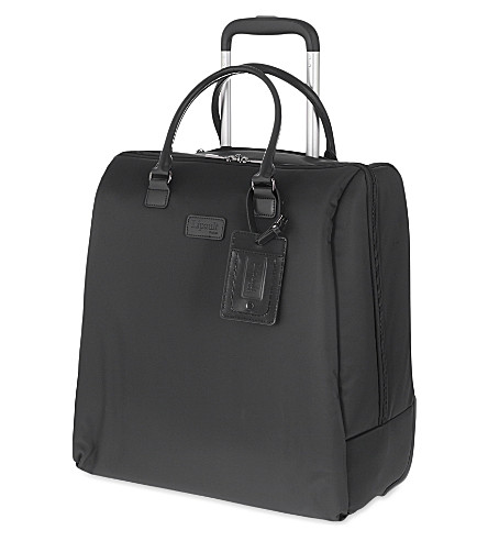 LIPAULT Lady Plume rolling tote 42.5cm (Anthracite+grey