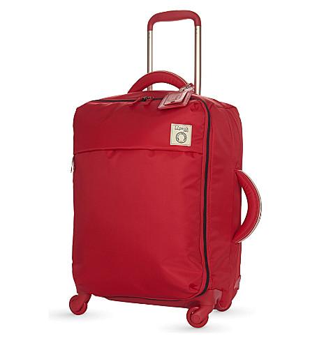 LIPAULT Inès de la Fressange four-wheel cabin suitcase 55cm (Red