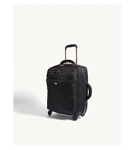 LIPAULT Originale Plume four-wheel cabin suitcase 55cm (Black