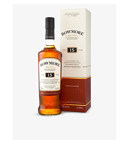BOWMORE 15 year-old single-malt Scotch whisky 700ml