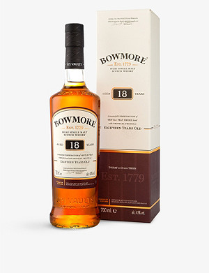 BOWMORE 18 year old single malt Scotch whisky 750ml