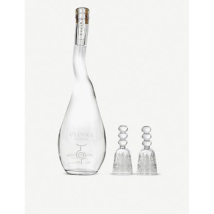 U'LUVKA Vodka magnum gift set with six glasses 1750ml
