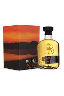 BALBLAIR 1991 Single Malt Whisky 700ml
