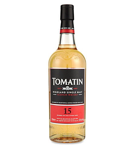 TOMATIN 15 year old Scotch whisky 700ml
