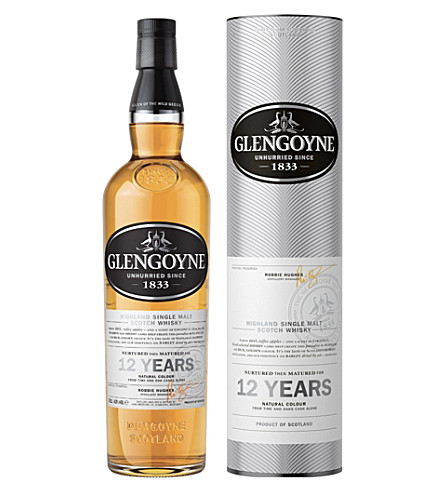 GLENGOYNE 12 year old Highland single malt whisky 700ml