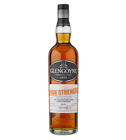 GLENGOYNE Cask Strength single malt scotch whisky 700ml