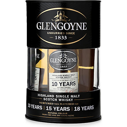 GLENGOYNE Mini drum whisky gift set 3 x 50ml