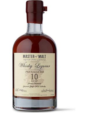 MASTER OF MALT 10 year old single malt whisky liqueur 700ml