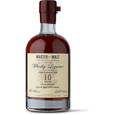 MASTER OF MALT 10 year old single malt whisky liqueur 700ml