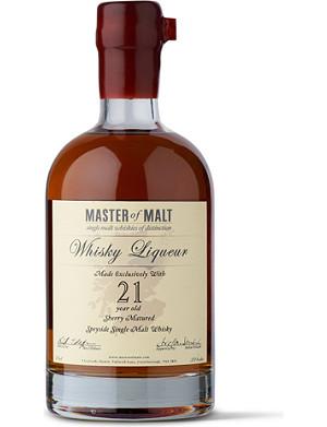 MASTER OF MALT 21 year old single malt whisky liqueur 700ml
