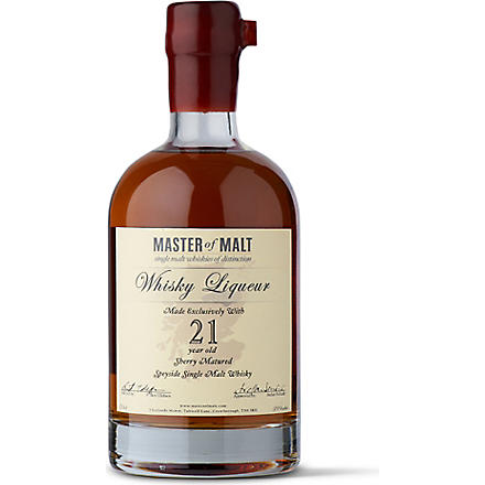 MASTER OF MALT 21 year old single malt whisky liqueur 700ml