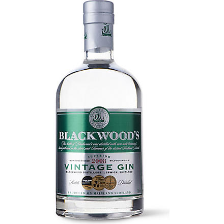 BLACKWOOD'S Vintage dry gin 700ml