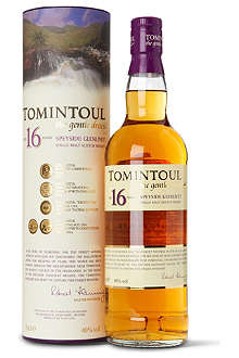 TOMINTOUL 16 year old single malt Scotch whisky 700ml