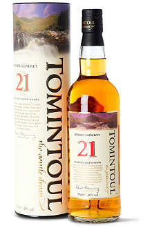 TOMINTOUL 21 year old single malt Scotch whisky 700ml