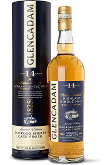 GLENCADAM 14 year old Oloroso Sherry Wood single malt Scotch whisky cask 700ml