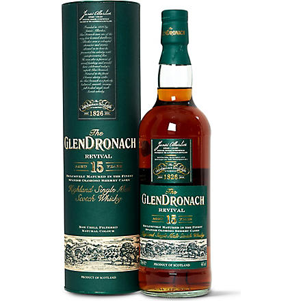 GLENDRONACH 15 year old single malt Scotch whisky 700ml