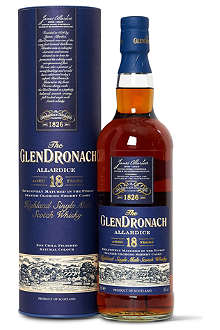 GLENDRONACH 18 year old single malt Scotch whisky 700ml