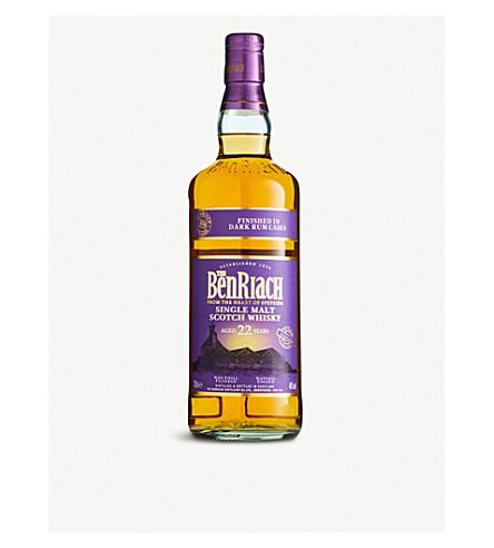 WHISKY AND BOURBON BenRiach dark rum-aged 22-year-old single malt Scotch whisky 700ml