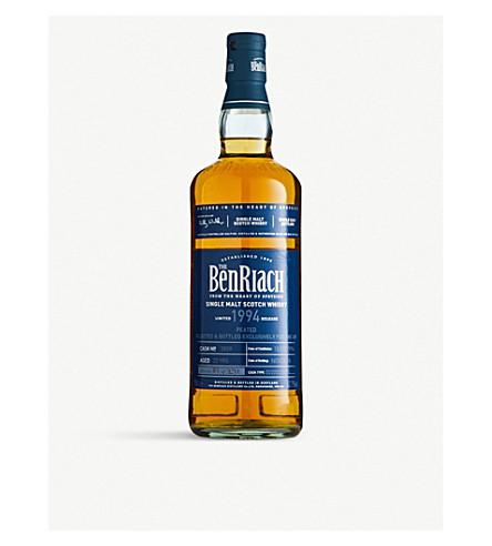 WHISKY AND BOURBON BenRiach 1994 peated single malt Scotch whisky 700ml