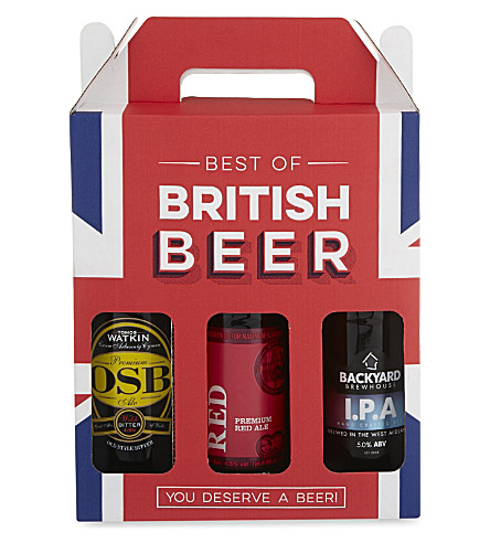 BEST OF BRITISH Beer bottle gift pack 3 x 500ml