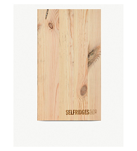 SELFRIDGES SELECTION Wooden 2 bottle wine box