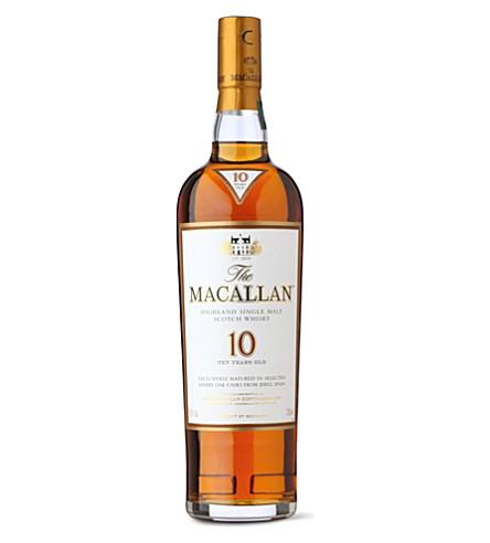 MACALLAN 10 年雪利橡木单麦芽威士忌700毫升