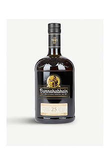 BUNNAHABHAIN 25 year old single malt Scotch whisky 700ml
