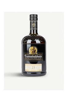 BUNNAHABHAIN 25 year old single malt Scotch whisky 700ml